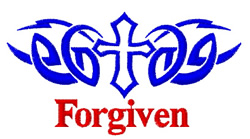 Cross Tattoo Forgiven embroidery design