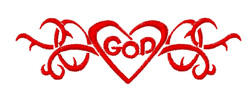God Tattoo embroidery design
