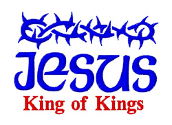 Jesus King of Kings embroidery design