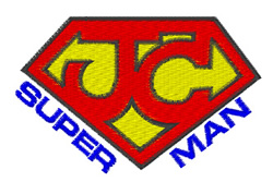 Jesus Christ Super Man embroidery design