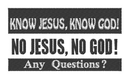 Know Jesus Questions embroidery design