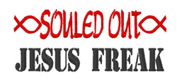 Souled Out embroidery design