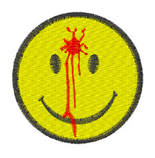 Bullet Smiley embroidery design