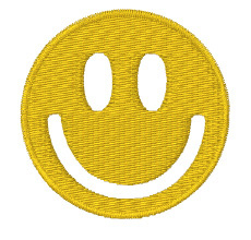Empty Smiley embroidery design