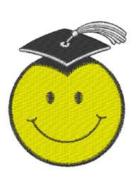 Graduation Smiley Logo embroidery design