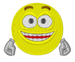 Happy Smiley embroidery design