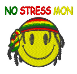Jamaican Smiley embroidery design