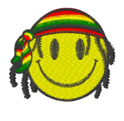 Jamaica Smiley Logo embroidery design