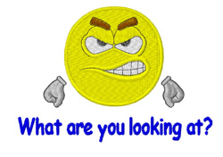 What Are You Looking At? embroidery design