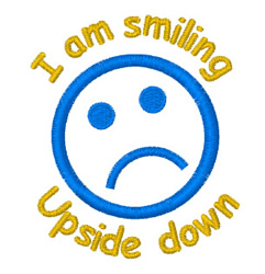 Upside Down Smile embroidery design