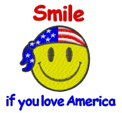 Smile If You Love America embroidery design