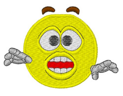 Ouch Smiley embroidery design