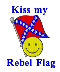 Kiss My Rebel Flag embroidery design