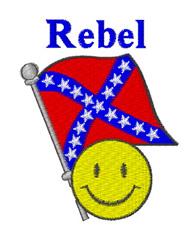 Rebel embroidery design