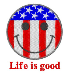 Life Is Good embroidery design