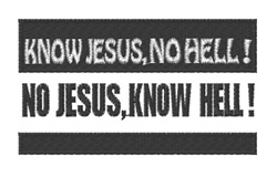 Know Jesus embroidery design