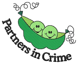 Partners in Crime embroidery design