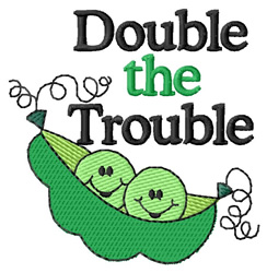 Double the Trouble embroidery design