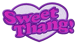 Sweet Thang embroidery design