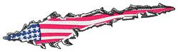 Flag Tear embroidery design
