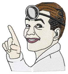 Doctor Obama embroidery design