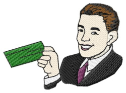 Man with Money embroidery design