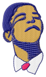 Obama Face embroidery design
