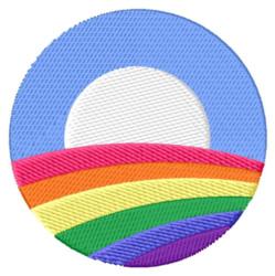 Rainbow Symbol embroidery design