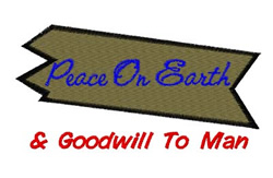 Goodwill To Men embroidery design