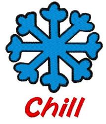 Chill Snowflake embroidery design