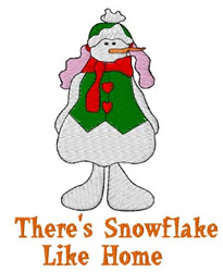 Snowflake Like Home embroidery design
