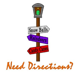 Need Directions embroidery design