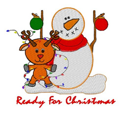 Ready For Christmas embroidery design