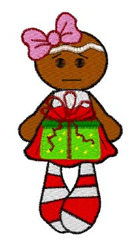 Gingerbread Gift embroidery design