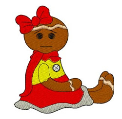 Gingerbread Kid embroidery design