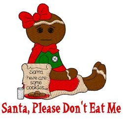 Please Dont Eat Me embroidery design