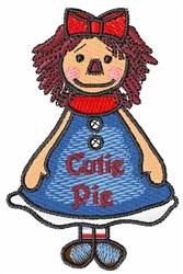 Cutie Pie Girl embroidery design