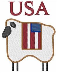 Patriotic Lamb embroidery design