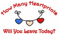 How Many Heartprints embroidery design