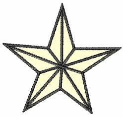 White Star embroidery design
