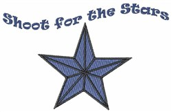 Shoot for the Stars embroidery design