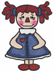 Rag Doll embroidery design