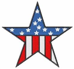Patriotic Flag Star embroidery design