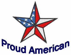 Proud American Star embroidery design