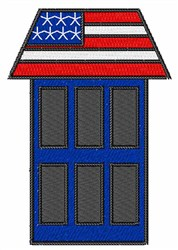 Patriotic House embroidery design