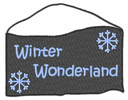 Winter Wonderland Sign embroidery design