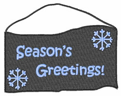 Seasons Greetings Sign embroidery design