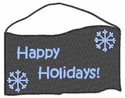 Happy Holidays Sign embroidery design