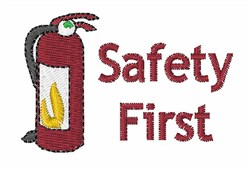 Safety First embroidery design