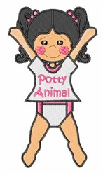 Potty Animal embroidery design